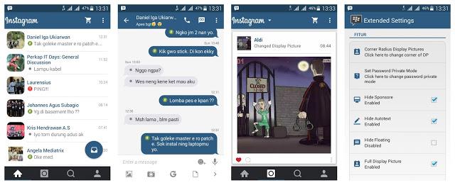 Download Mod BBM Theme Instagram Version  Download Mod BBM Theme Instagram V2.11.0.16 Newest