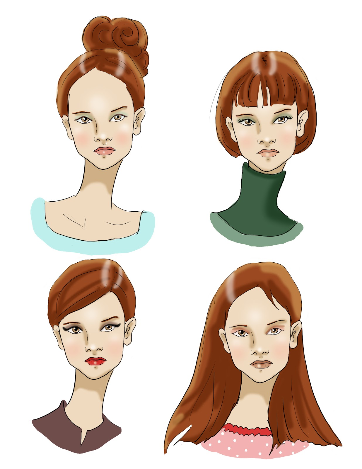 Fashion Croquis Hair Images Galleries With A Bite