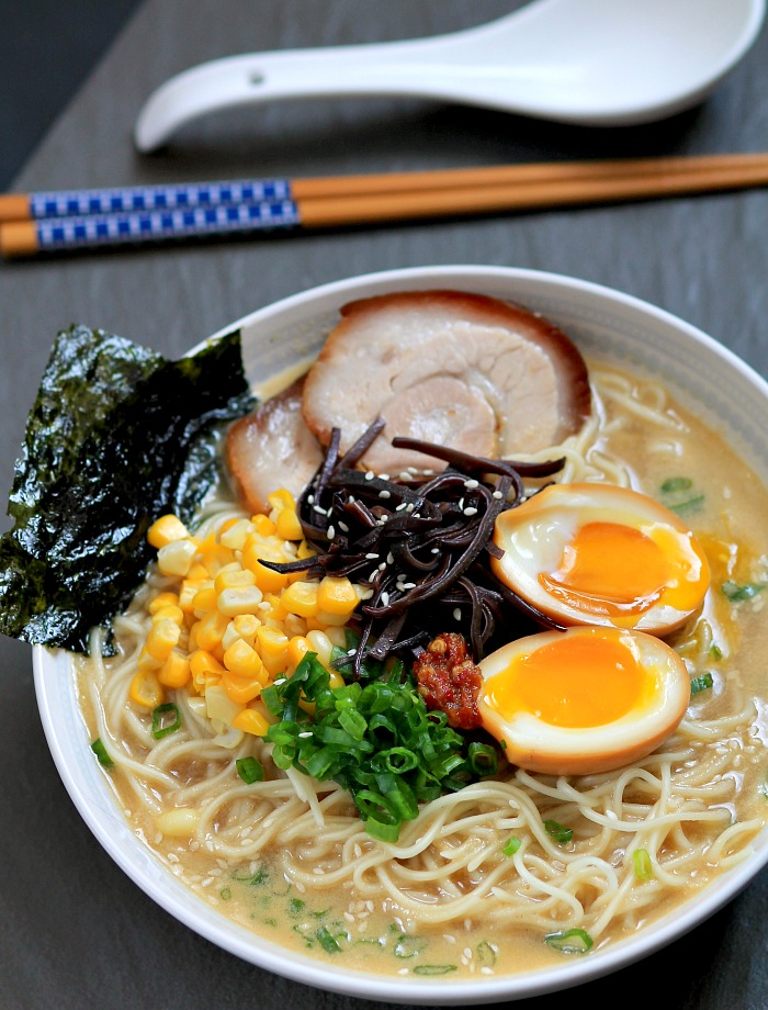 Tonkotsu ramen broth ( recipe adapted from Serious Eats )