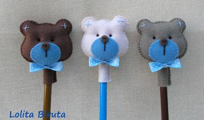 ponteira de ursinhos para meninos