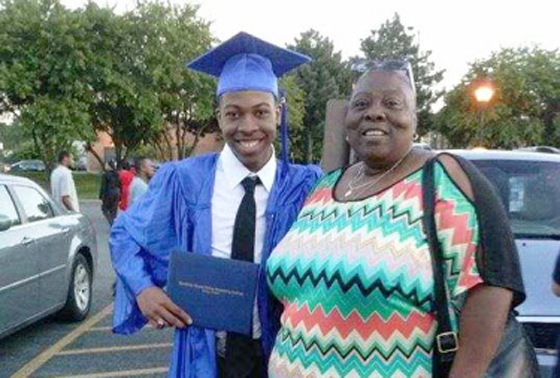 The moment some cops see a black person, their minds stop functioning properly.  Quintonio LeGrier with his foster mom, Mary Strenger, at his graduation from Gwendolyn Brooks  College Prep high school in 2014. | Strenger family photo