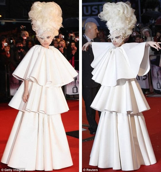 I mean this basically IS a wedding gown Big white and poufy