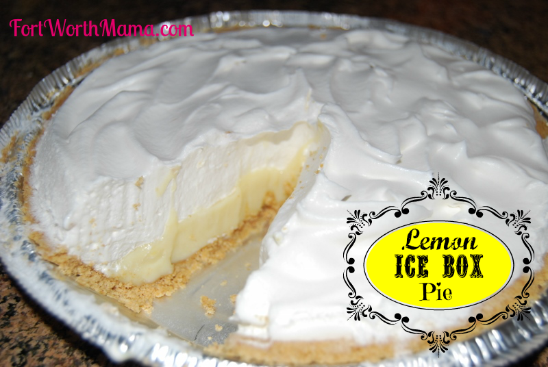 Fort Worth Mama: Recipe To Try - Lemon Ice Box Pie