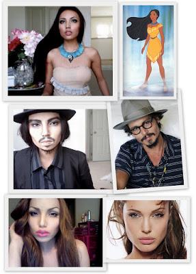 A mágica da maquiagem