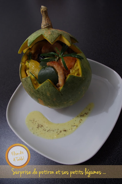Surprise de potiron et ses petits légumes