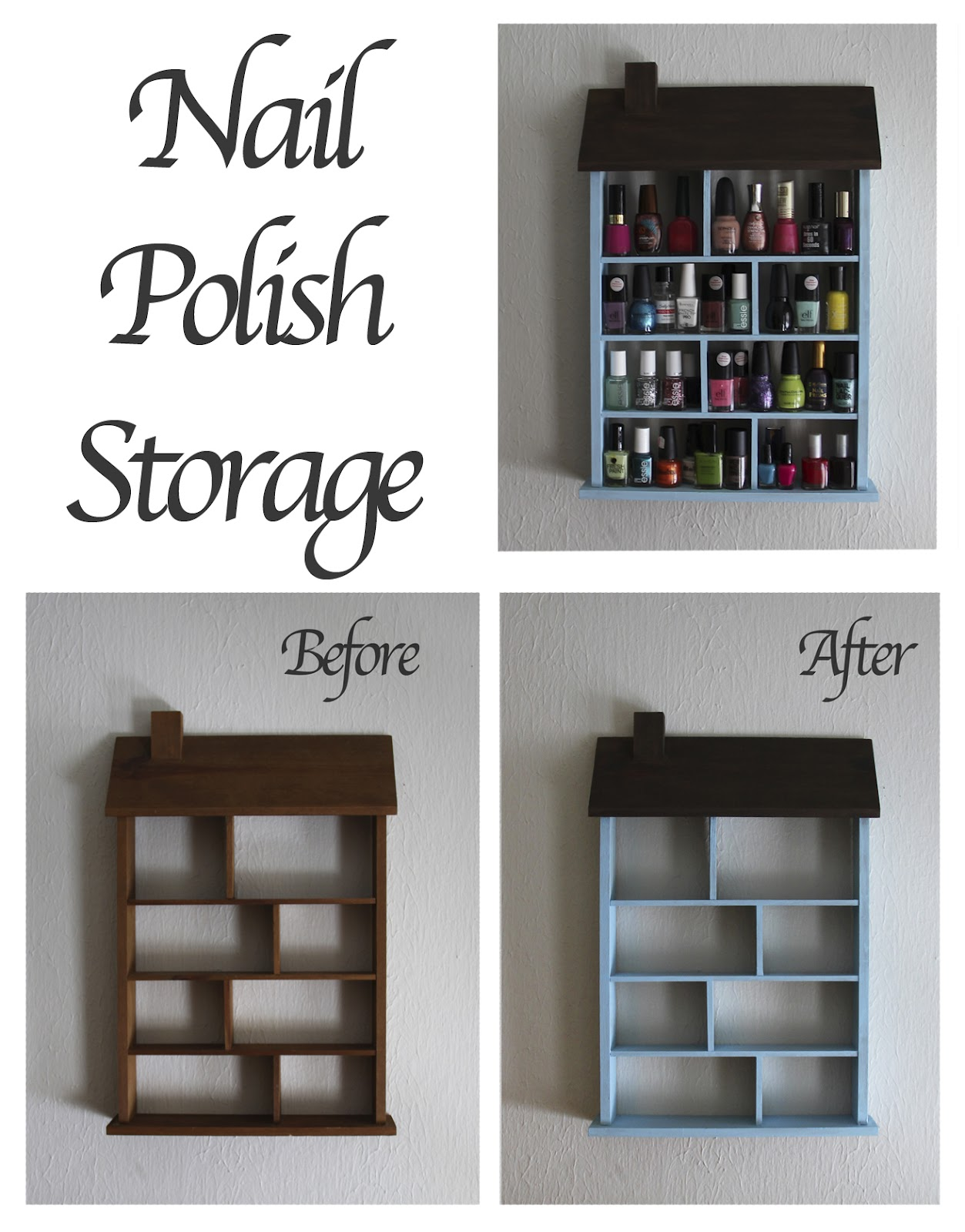 sewseas: DIY Nail Polish Storage