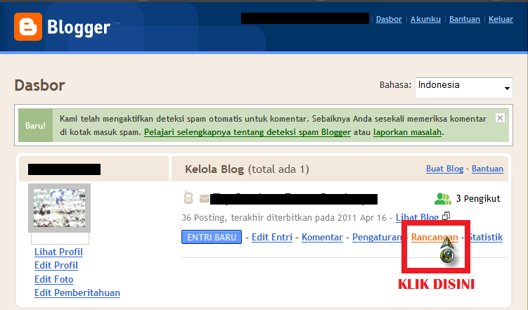 cara menambahkan blog