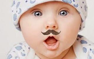 Gambar bayi lucu pakai kumis 29