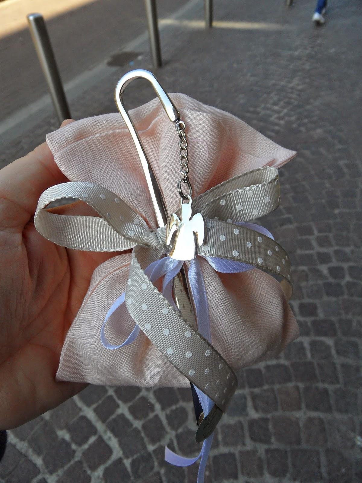 Extrêmement Bomboniere per Amore: Idee Comunione Bimba Sacchetto lino color  JG37