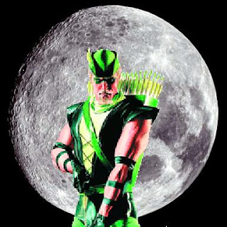 Green Arrow with full moon background
