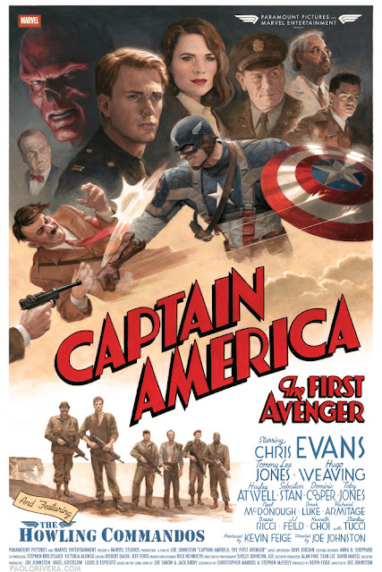 Cast & Crew Exclusive Captain America: The First Avenger Theatrical One Sheet Movie Poster by Paolo Rivera