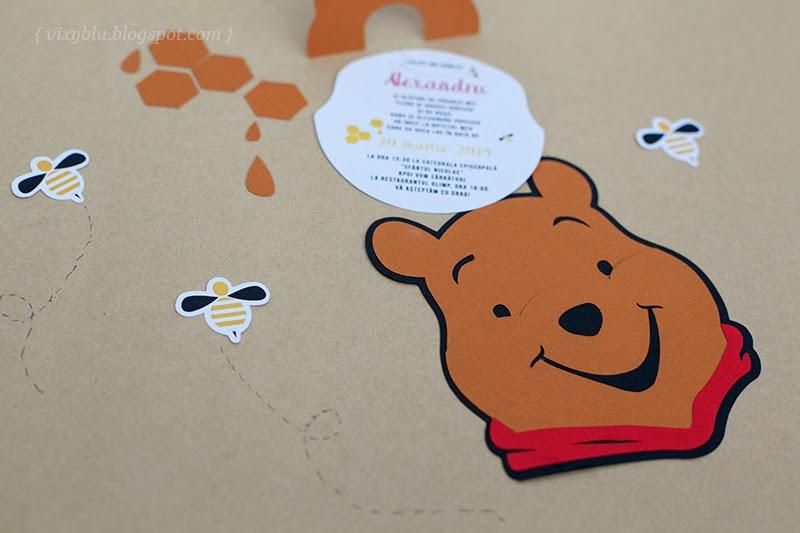 invitatii petrecere Winnie the Pooh, pachet petrecere copii