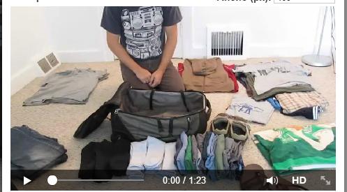 Como meter un tro de ropas en una maleta