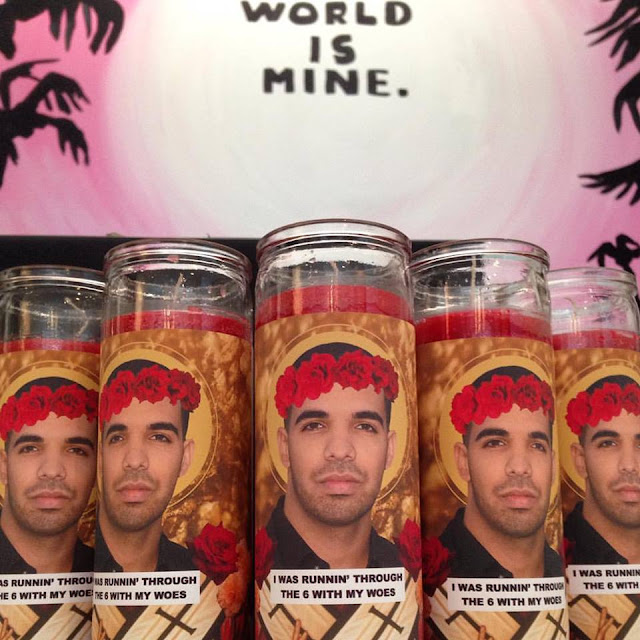 Champagne Papi prayer candles