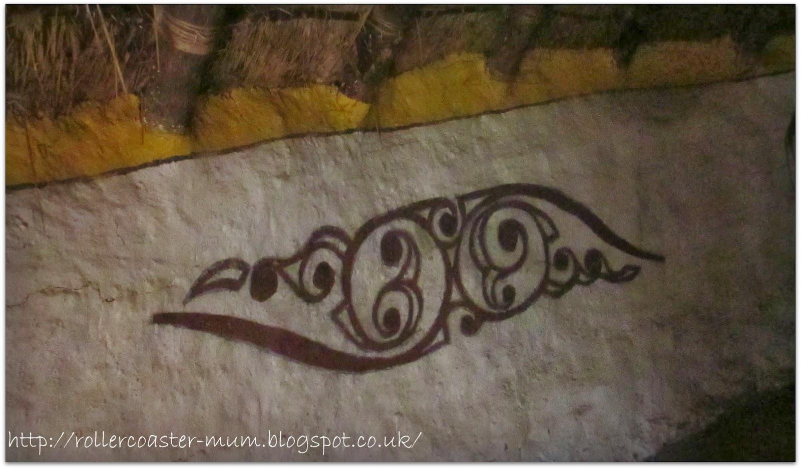 Celtic wall art - roundhouse - Butser Ancient Farm
