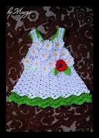 Вечернее вязаное платье для девочки