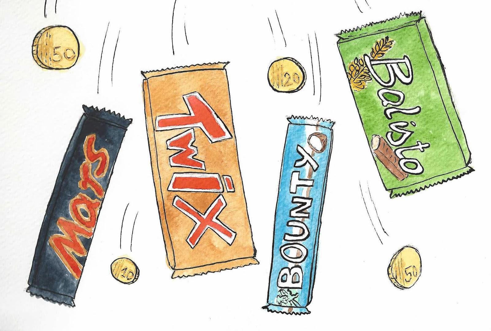 Mars, Twix, Balisto, Bounty... Oh oui!