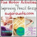 Activities to Improve Pencil Grasp