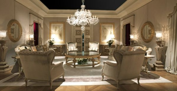 Luxury classic living room furniture sets furniture for Exclusive living room furniture