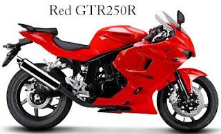 Hyosung GT250R red