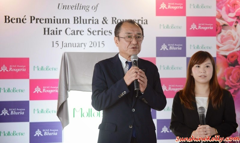 Bene Premium Bluria, Bene Premium Rougeria, MoltoBene in Malaysia, MoltoBene, Hair Care, Japan Hair Product, zebra square, Tsutomu Watanabe San, Executive Director, MoltoBene Inc, Moltobene Japan