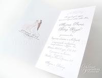 Свадебные приглашения ручной работы.