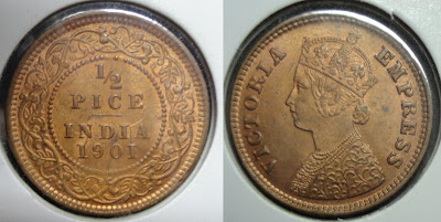 victoria empress half pice 1901
