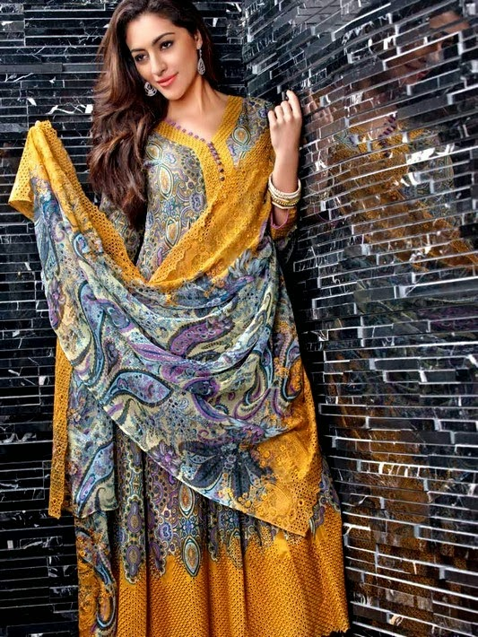 Gul Ahmed Embroidered Lawn Collection 2014
