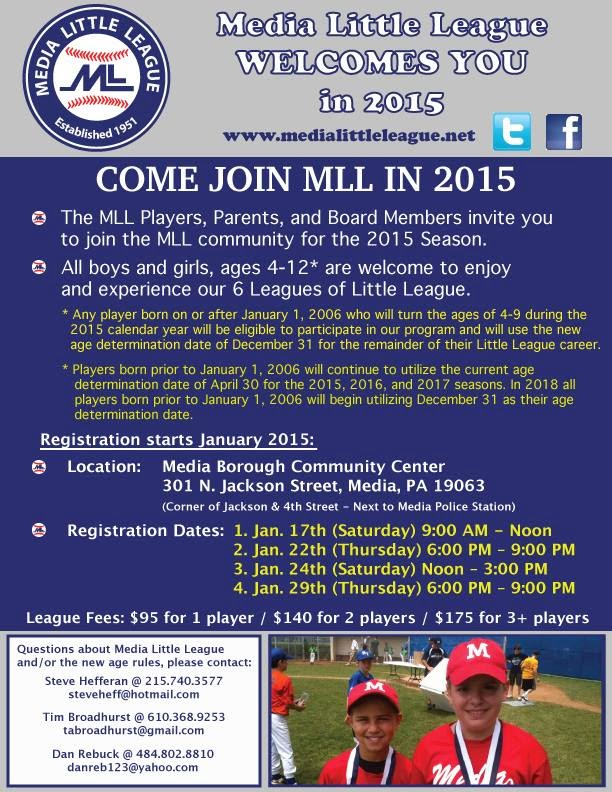 Media Little League Sign-ups!