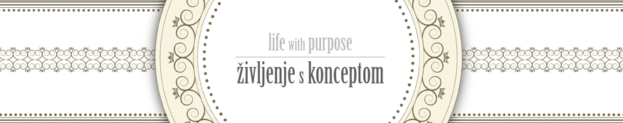 life with purpose, življenje s konceptom