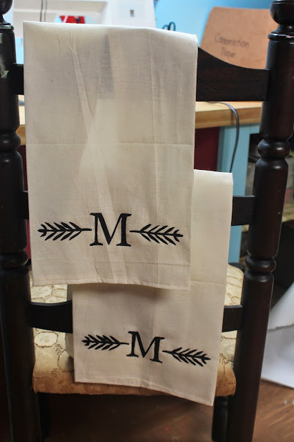 DIY handpainted kitchen towels