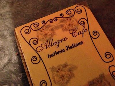 Allegro Cafe menu
