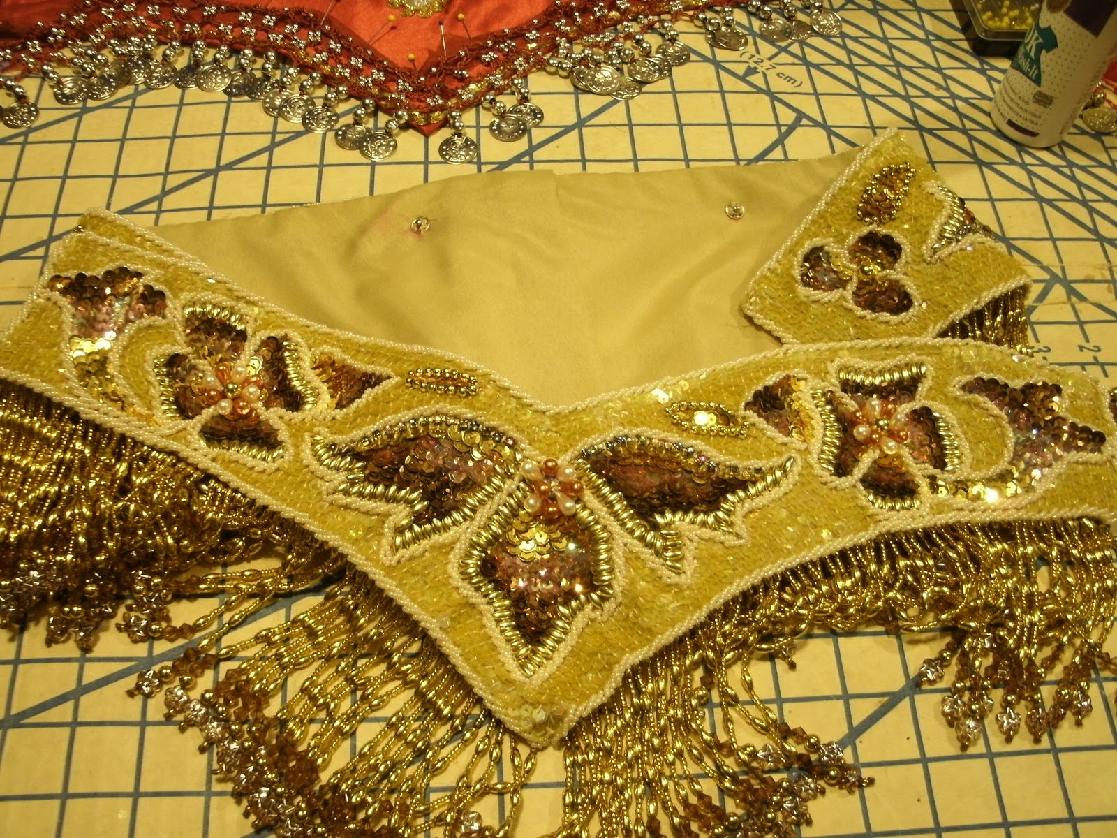 d0f633144f Naima s Bellydance Blog  Coin Wrap to Bedlah Sew Along Task 8  Making a  Belt Base