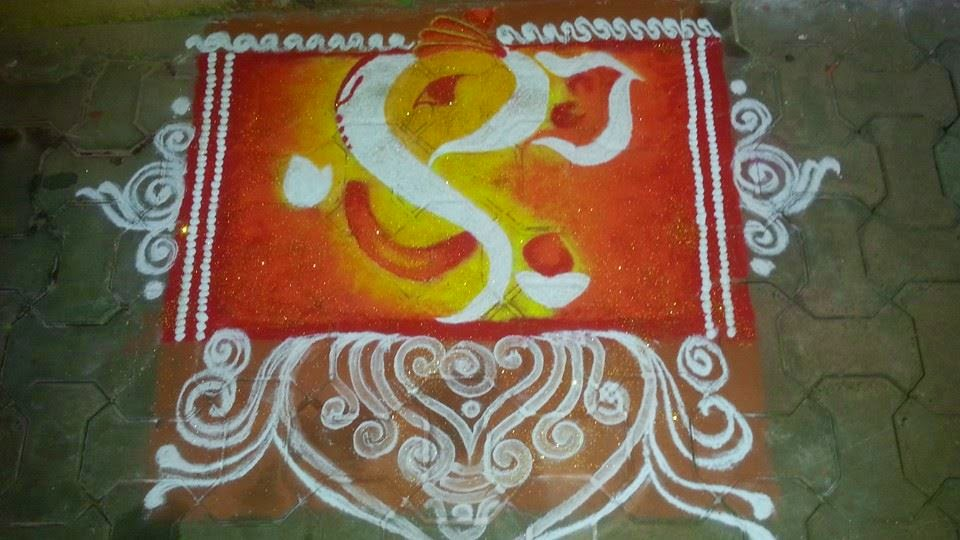 Top Happy Ganesh Chaturthi PooKolam Pictures for free download