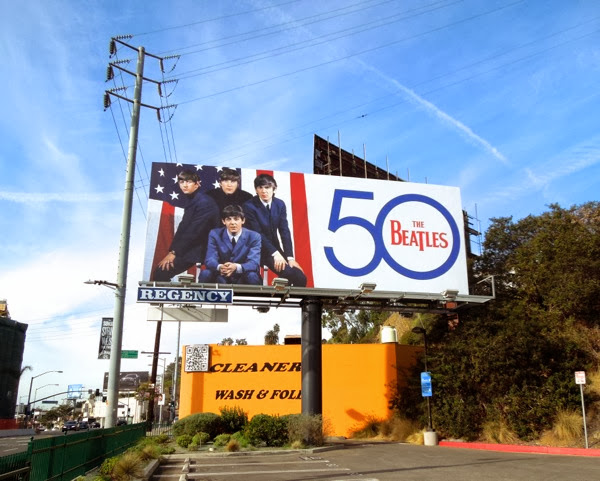 Beatles 50th anniversary USA billboard