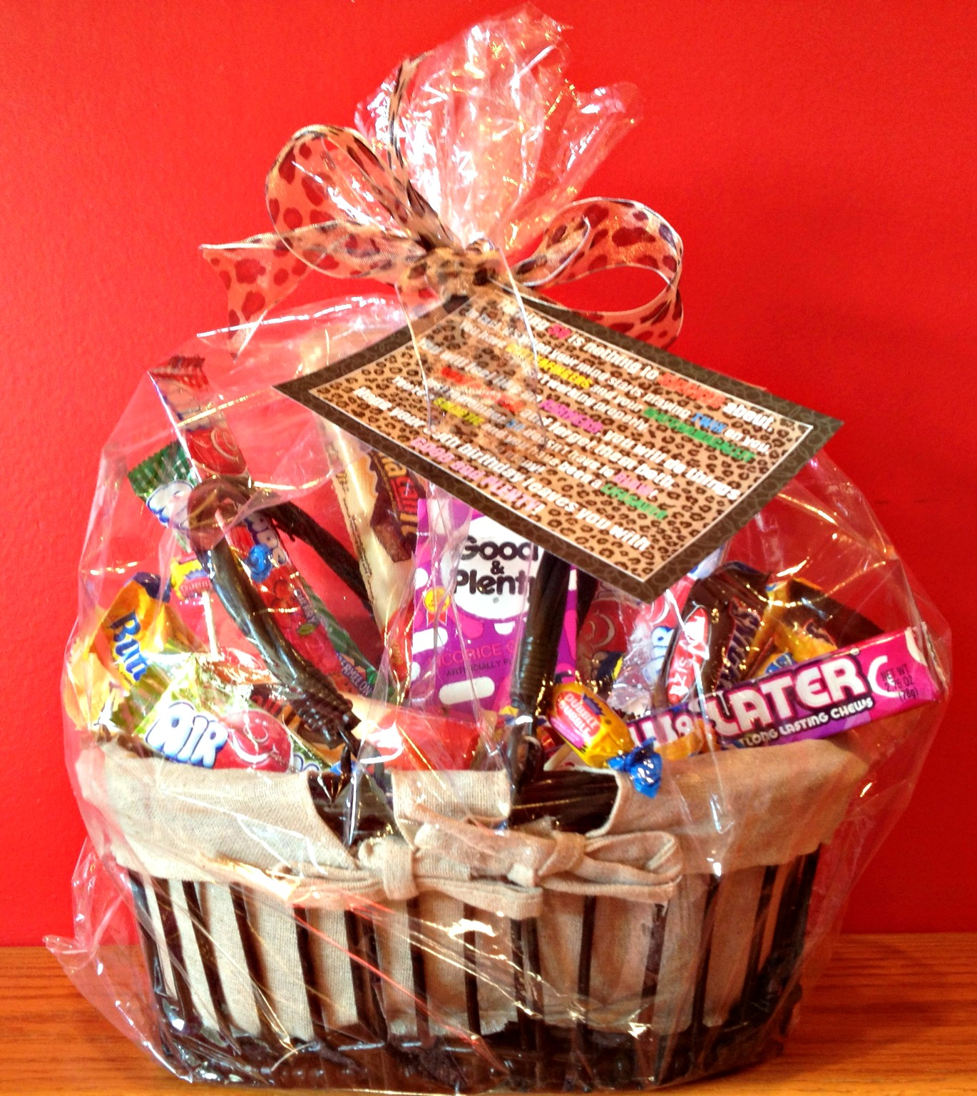 50th Birthday Gift Basket Ideas : African desserts th birthday candy basket and poem