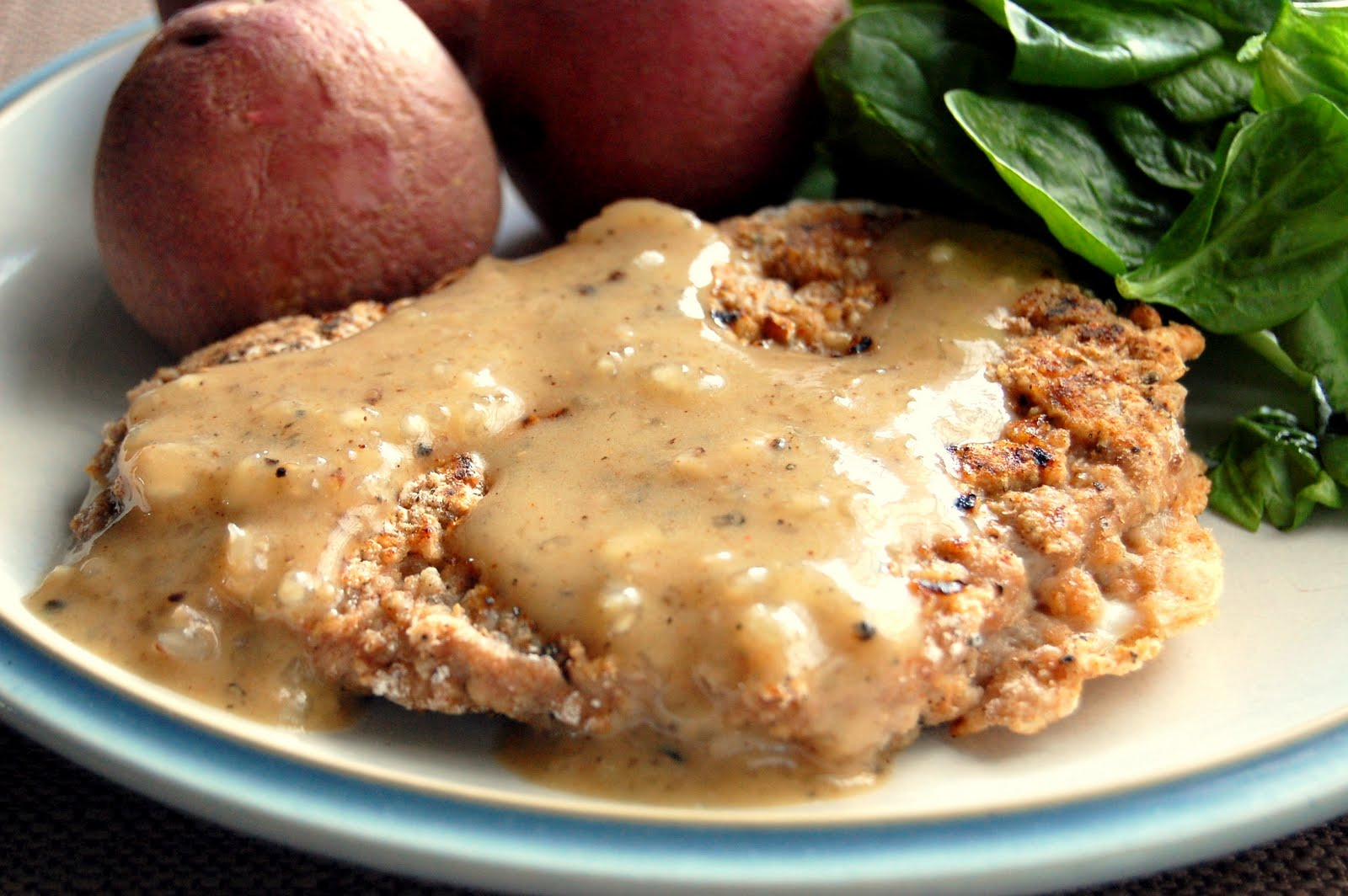 Country Fried Steak With Brown Gravy Recipe — Dishmaps