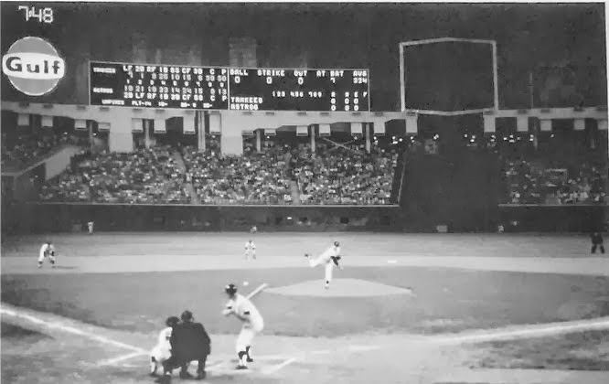 Mickey Mantle at bat in Houston Astrodome April 9, 1965