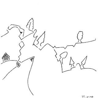 Zeichnung Bild / painting picture : Geschenkgesicht / presentface