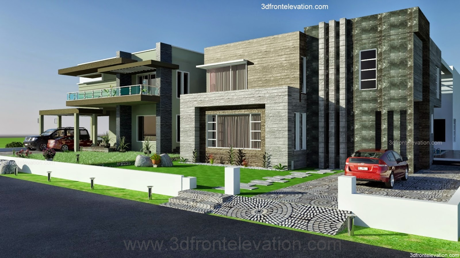 Front Elevation Of House In Karachi : D front elevation