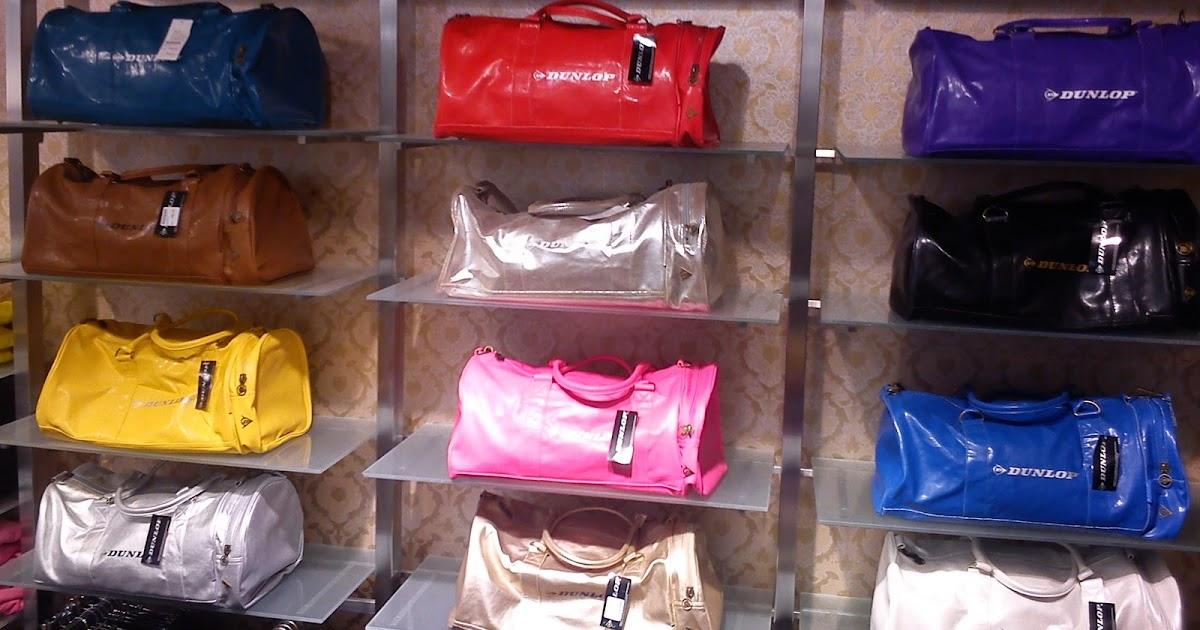 pink dunlop taske