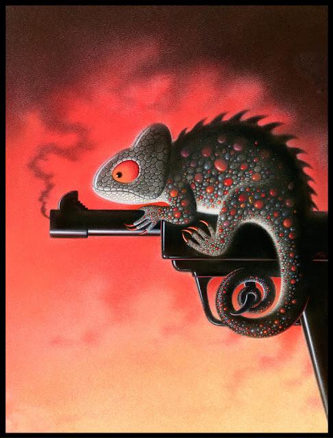 Chameleon by artist Tony Meeuwissen
