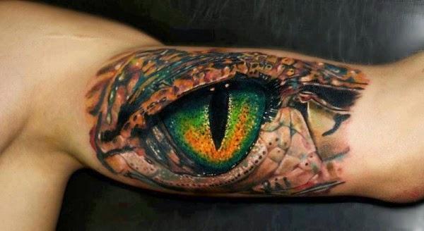 tattoo Olho de Réptil