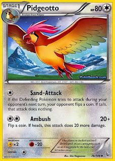 Pidgeotto Flashfire Pokemon Card