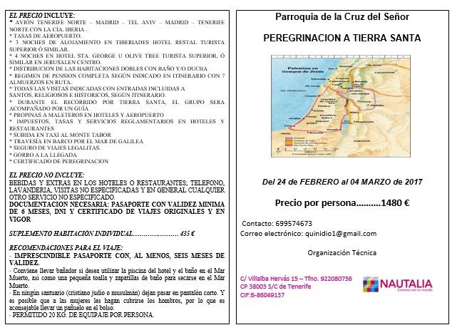 Programa Viaje Tierra Santa