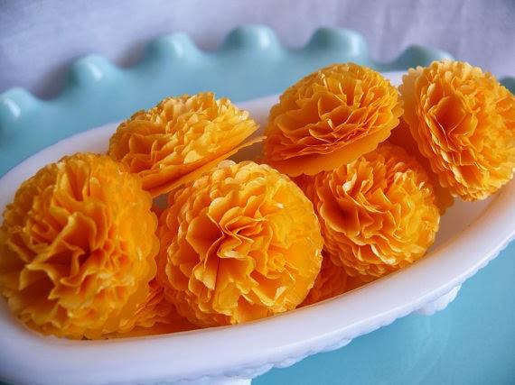 Day 4 Diy Paper Marigold Flowers For Dussehra Amp Diwali
