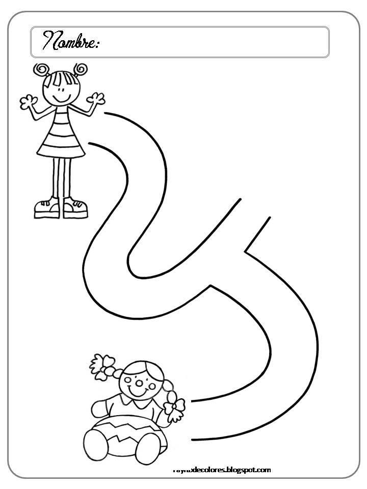 Rayito de Colores: Laberintos para preescolar