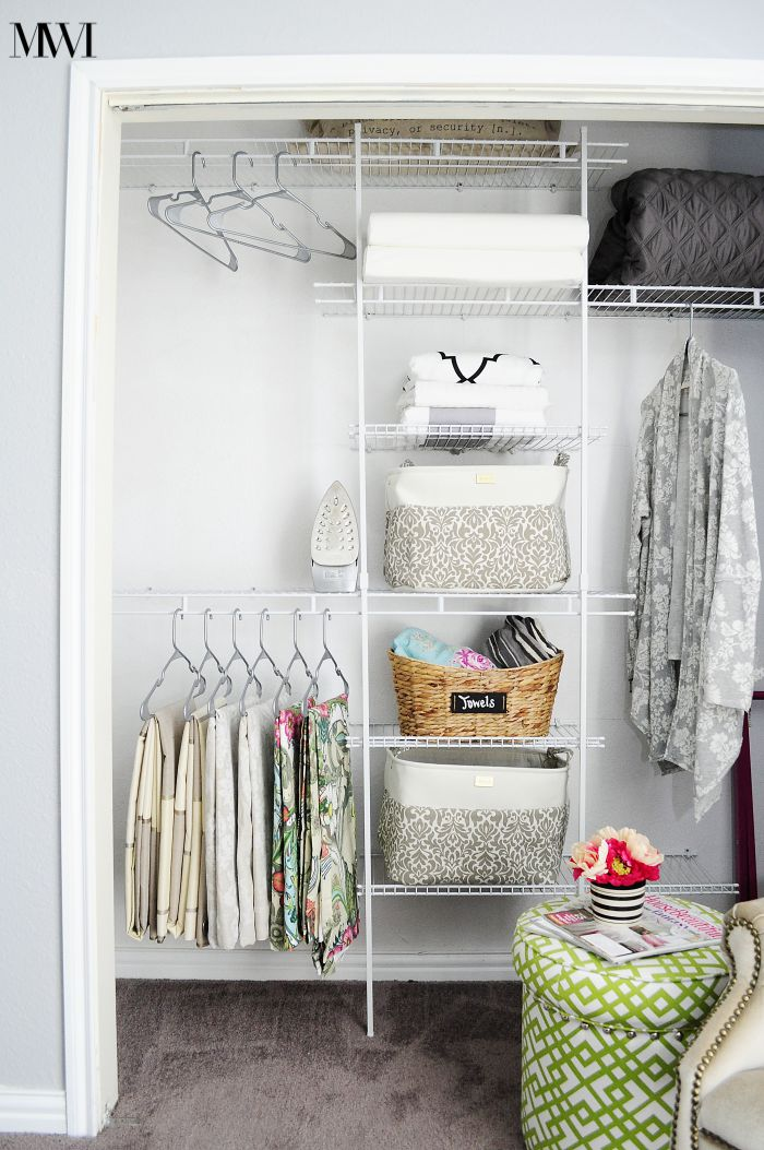 Makeover your closet to increase its function and organization for under $100! What a great makeover!