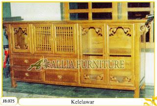 Bufet ukiran oriental kayu jati Kelelawar