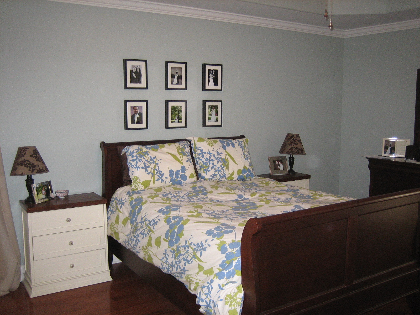 Master Bedroom Update PB Colette Bedding And A New Bed The - Update old bedroom furniture